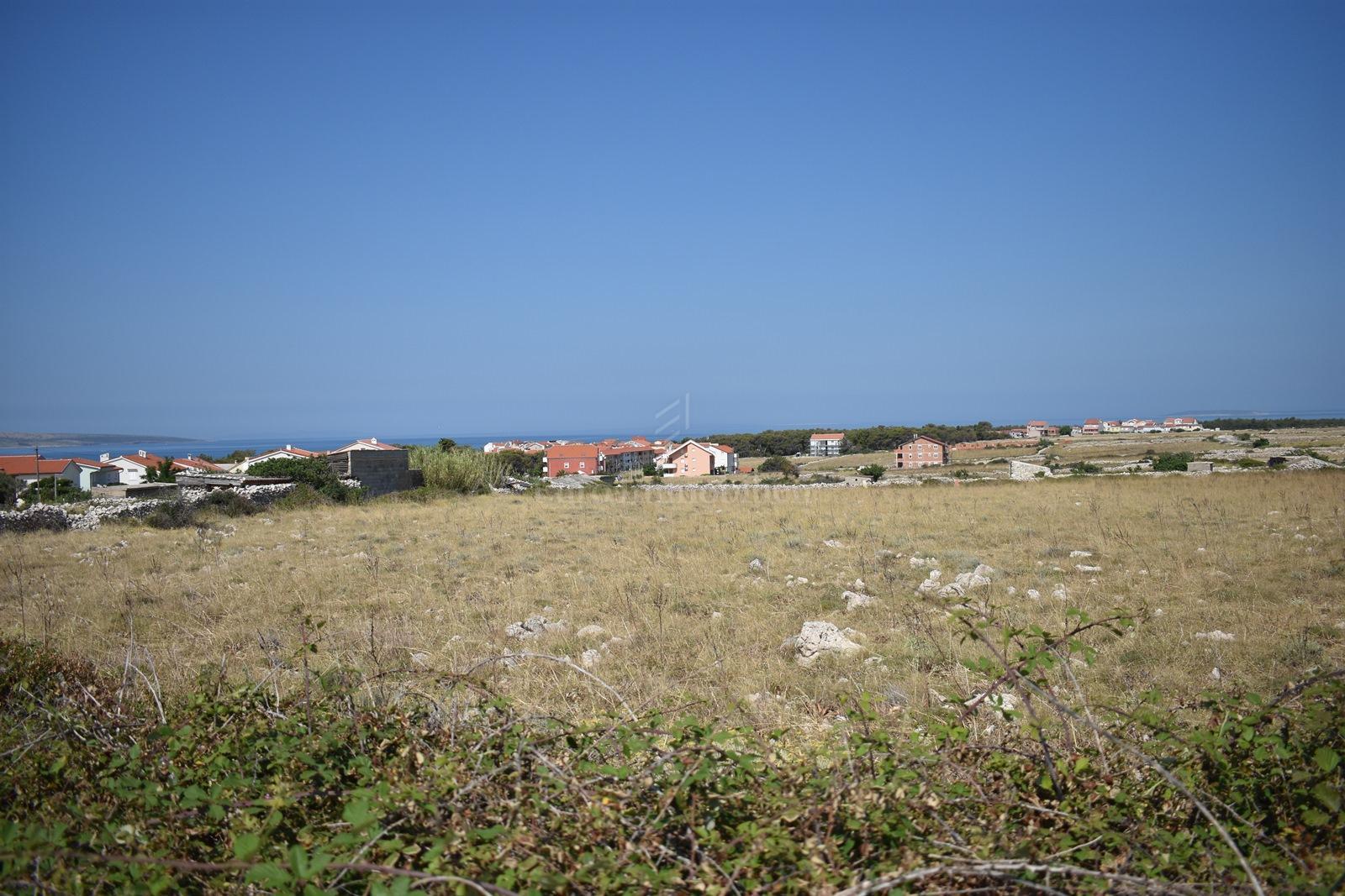 Građevinsko zemljište u Povljani na Pagu s pogledom na more