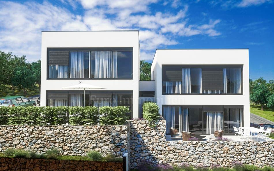 Modern semi-detached house with sea view!