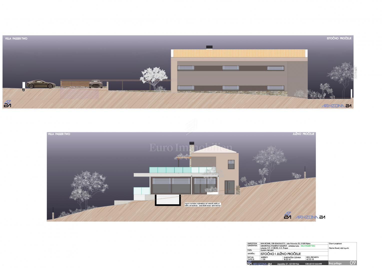 OPPORTUNITY! Building land with a permit to build a modern villa with pool