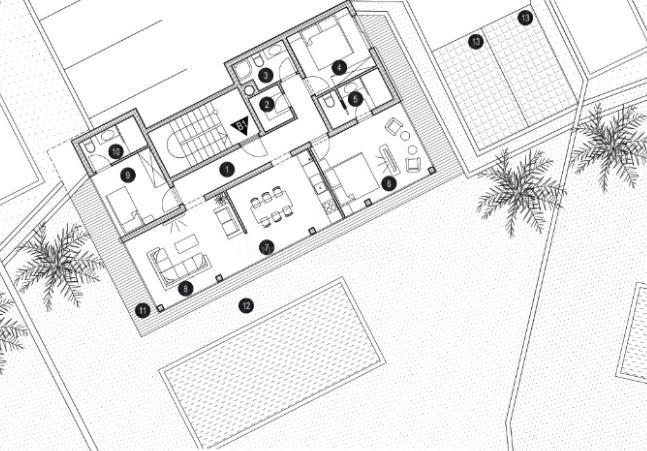 Moderne Wohnung mit Pool