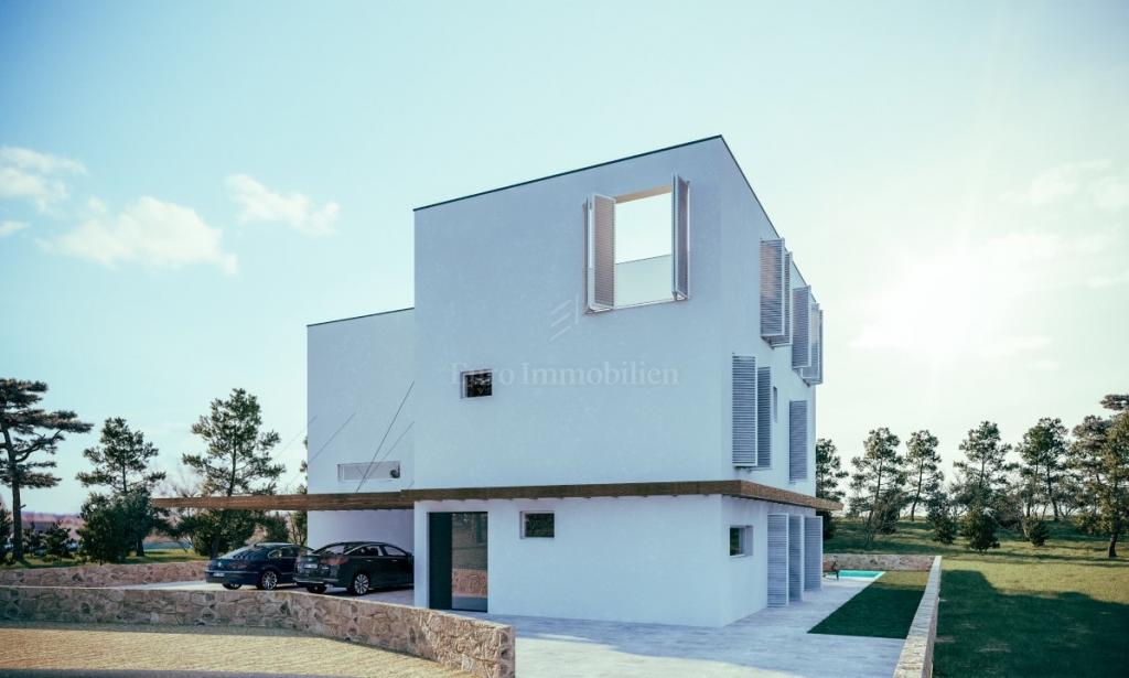Rogoznica - semi-detached house in new building
