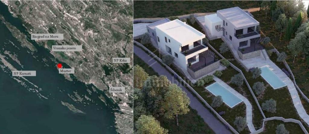 Villa moderna con una bellissima vista sul mare