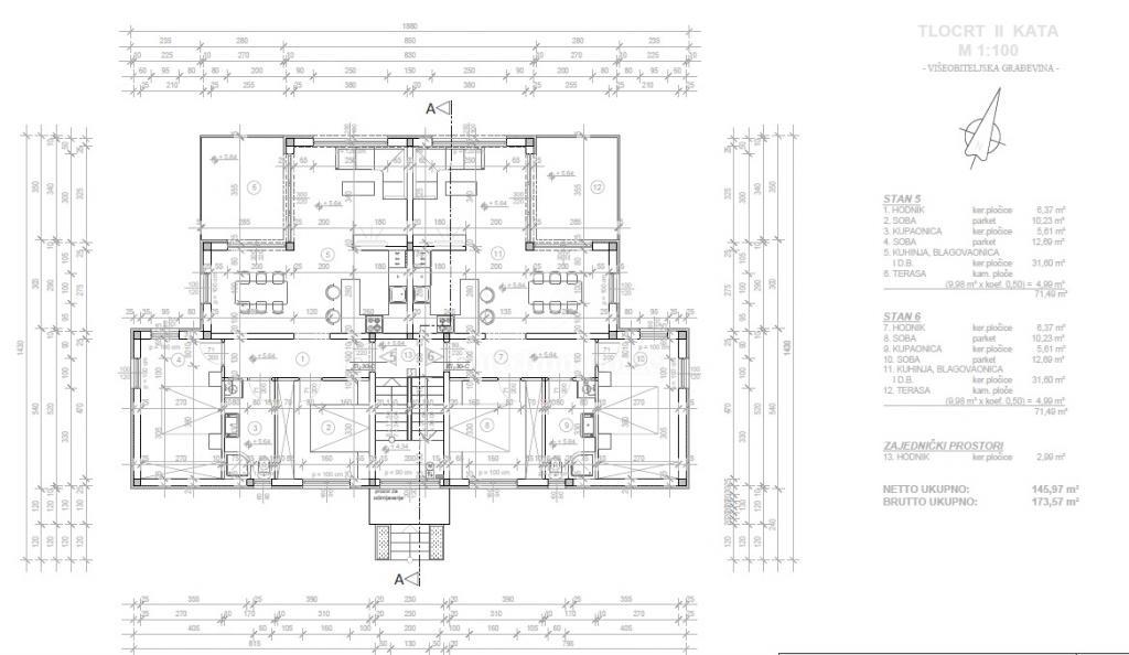 Nuova costruzione, appartamento con giardino e vista mare