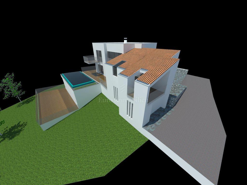 Baugrundstück mit Projekt für ein Einfamilienhaus