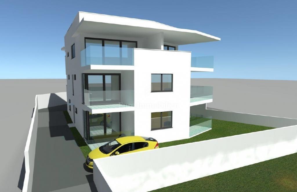 Appartamento su due livelli in un edificio nuovo con vista mare