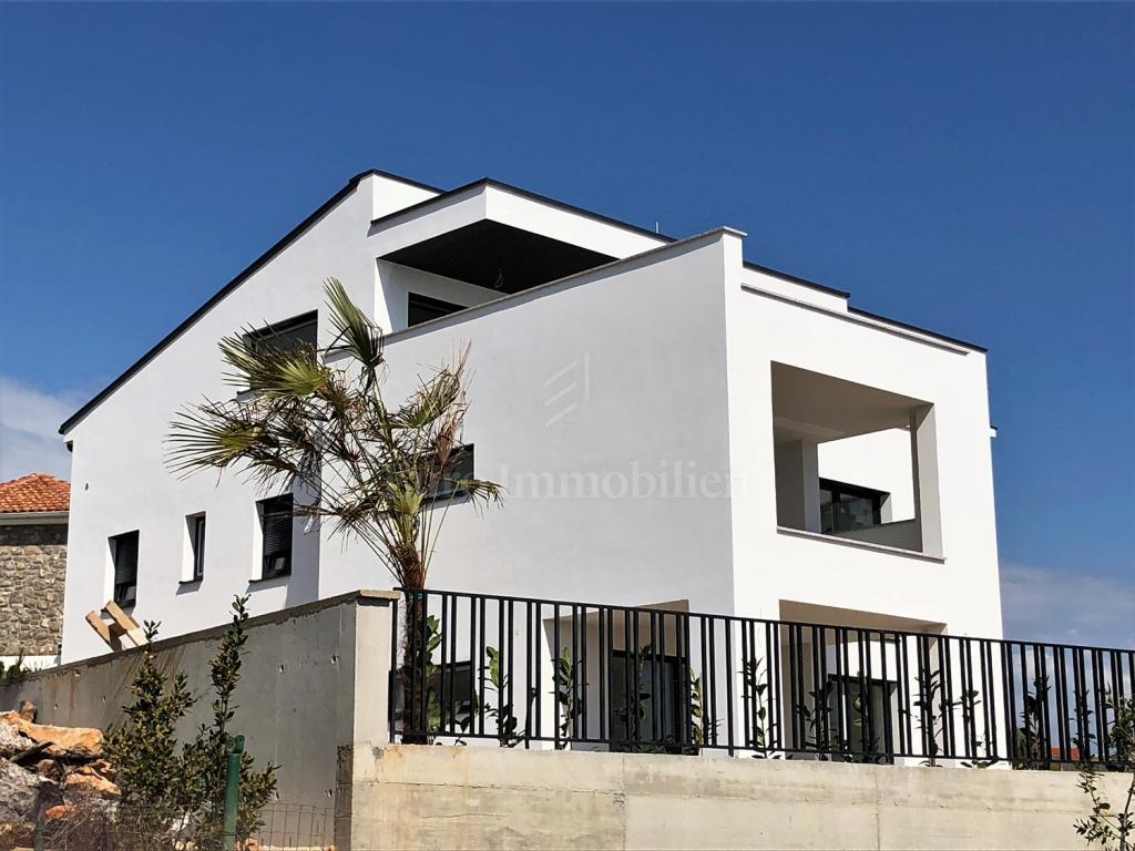 Stadt Krk, Wohnung in modernem Neubau mit Meerblick