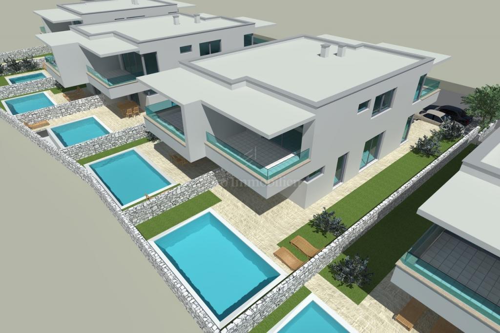Dvojna kuća s bazenom i pogledom na more