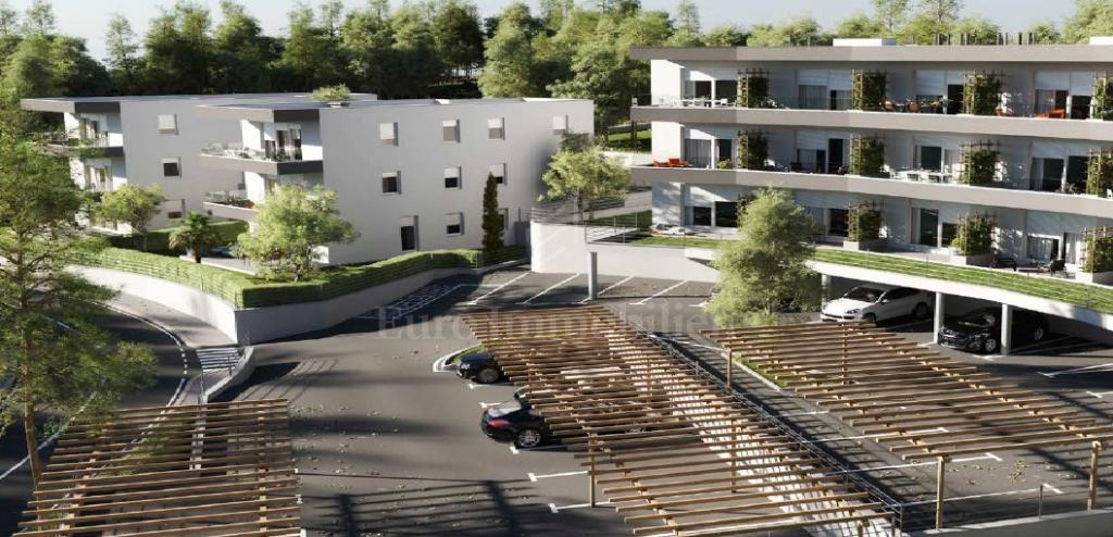 Novogradnja, apartman na drugom katu s pogledom na more