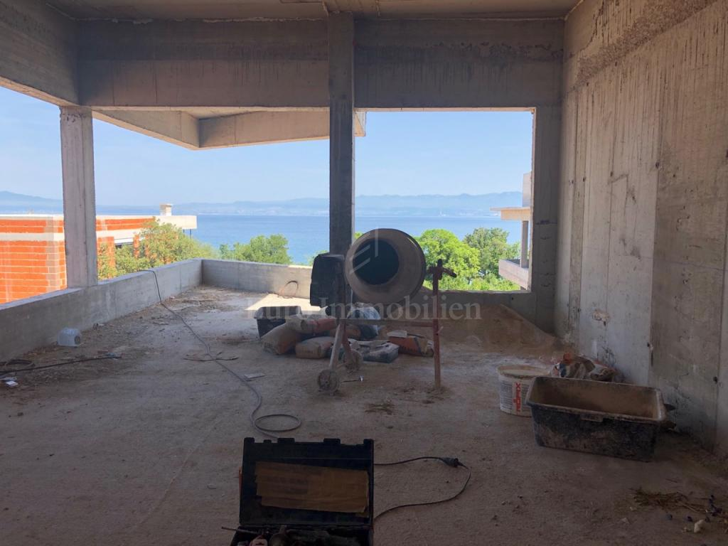 Island Krk, Malinska, apartments first row to the beach