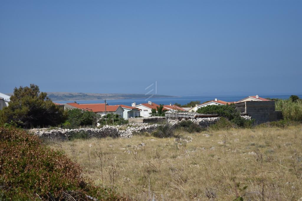 Building land in Povljana on Pag with sea view