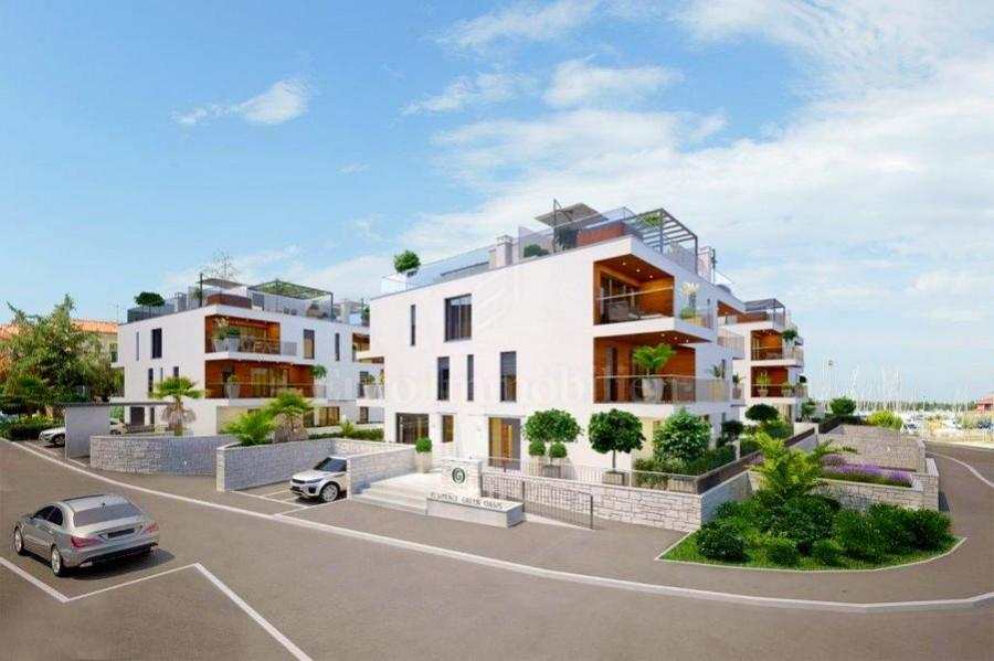 Modern new building in the center of Novigrad, Istra