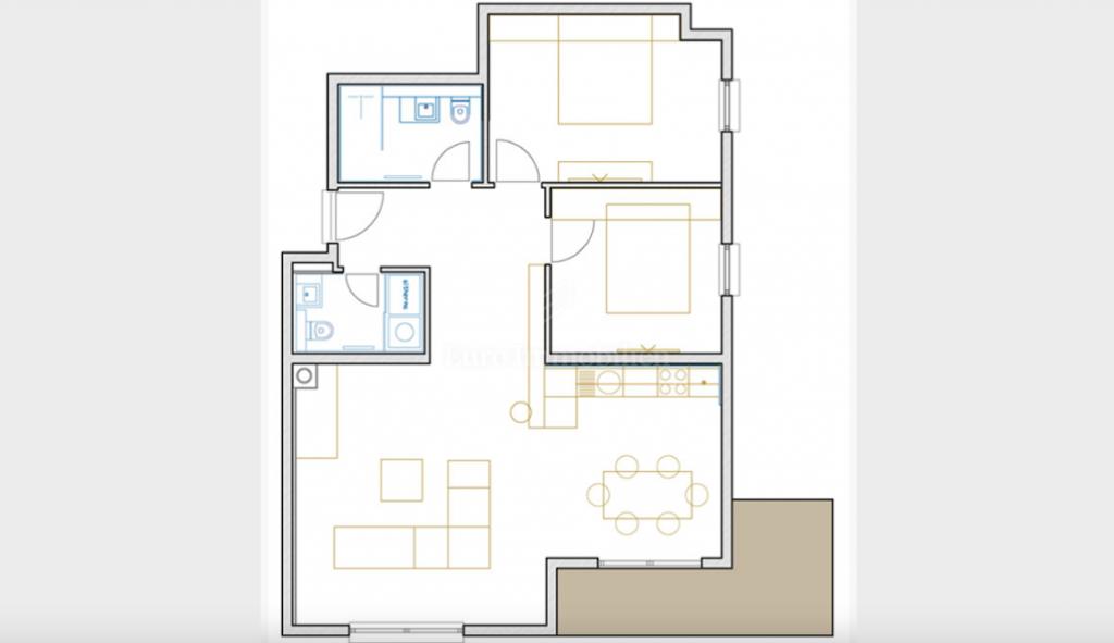 Opatija, dvosoban stan s dnevnim boravkom, 120 m2