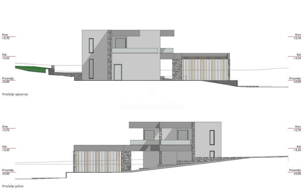 Land with a building permit to build a villa with pool!