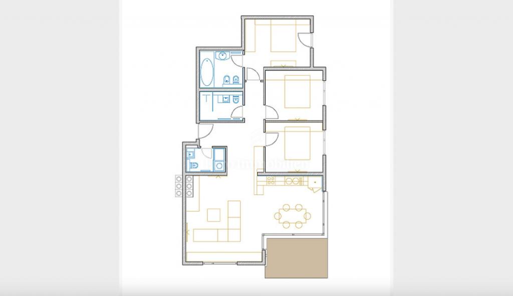 Opatija, three bedroom flat with living room, 143 m2
