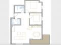 Opatija, dvosoban stan s dnevnim boravkom, 102 m2