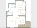 Opatija, two bedroom flat with living room, 104 m2
