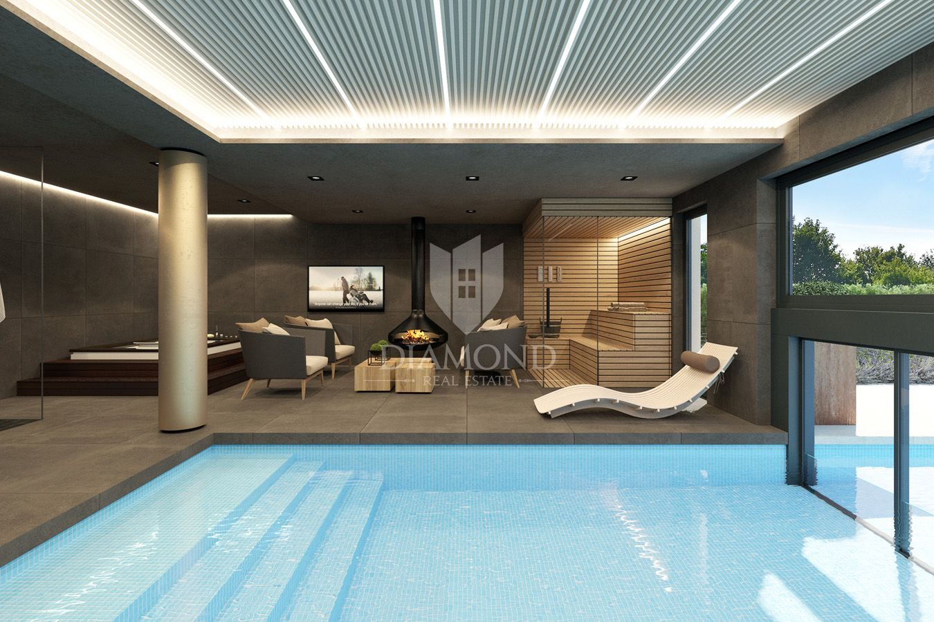 Poreč, Villa with indoor and outdoor swimming pool, House