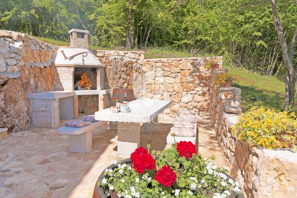 Labin, kamena Villa s bazenom na osami