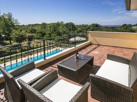 Vižinada, okolica, prekrasna Villa u prirodi sa bazenom