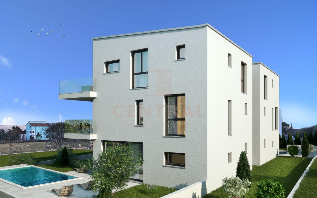 Porat, Malinska, trosoban stan s dnevnim boravkom, 160 m2