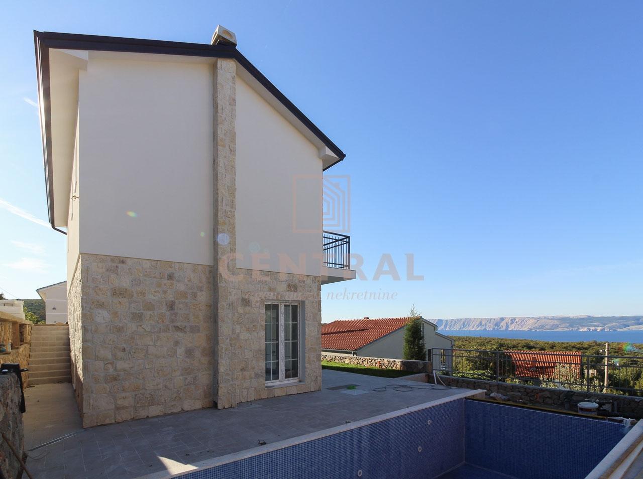 Novi Vinodolski - okolica, kuća na dvije etaže 125 m2, s pogledom na more