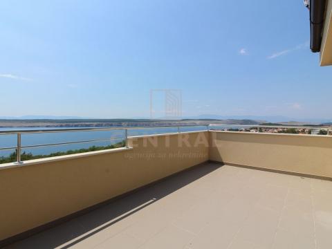 Jadranovo, dvoetažni stan 3S+DB 105 m2, pogled na more!
