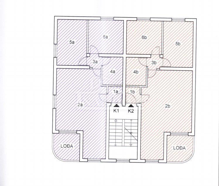 Vodice - Dvosoban apartman u potkrovlju K1