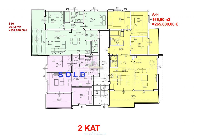 Vodice- Stan S10 81,67m2, 2.kat, novogradnja