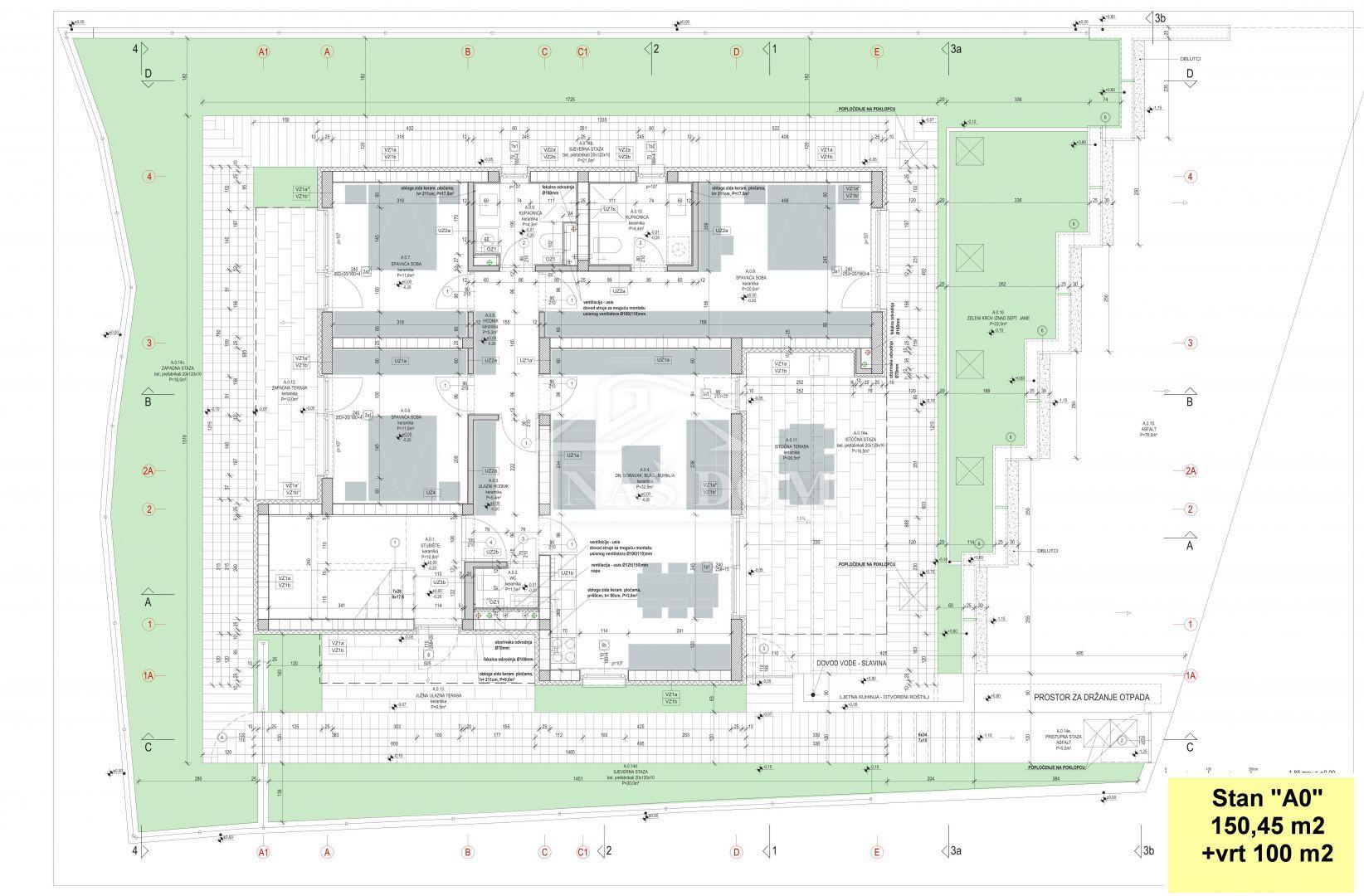 "Murter- 1.red do mora luxuzni stan sa vrtom ""A0""-150,45 m2"