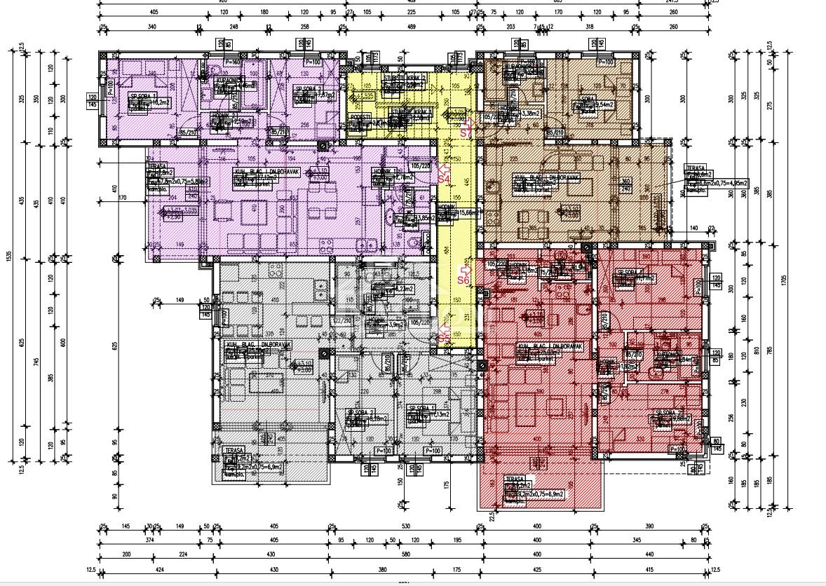 Vodice- Dvosoban stan 78.72m2 , S5,  I kat , Novogradnja
