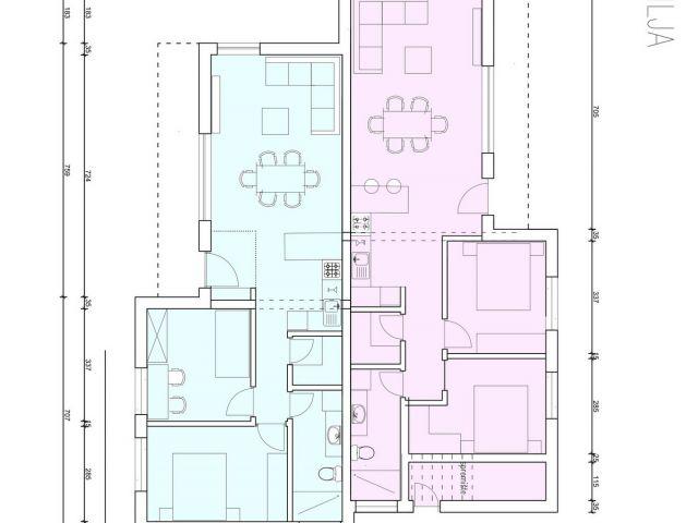 Vodice- S2 stan sa vrtom u urbanoj villi