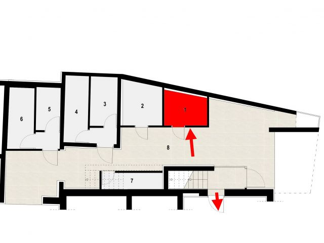 Tribunj- trosoban stan sa vrtom S1,