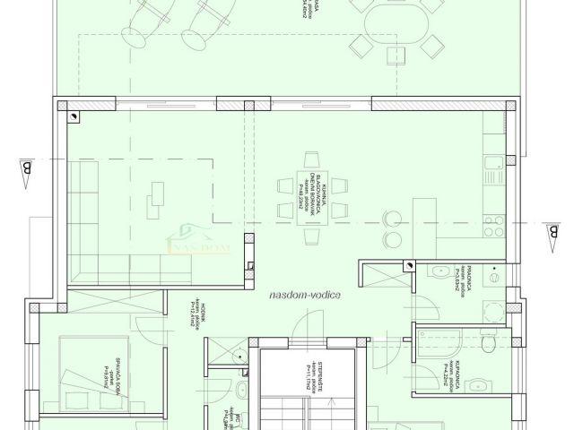 VODICE-Penthouse 123 m2, 400m do plave plaže
