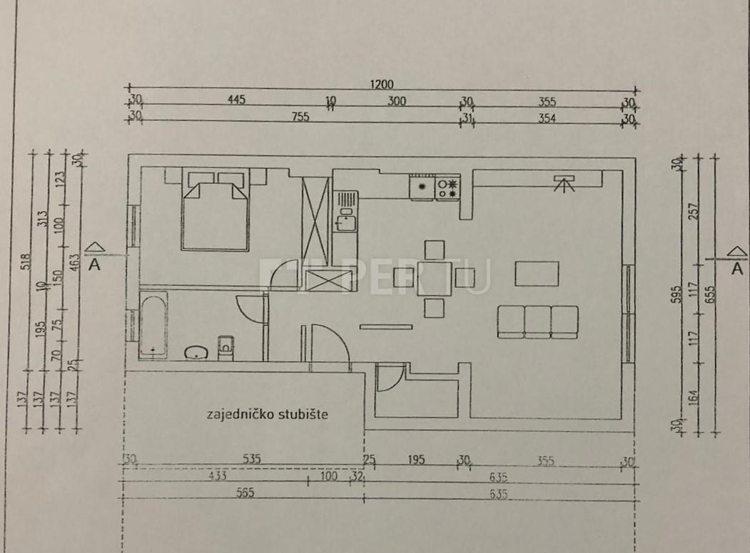 Stan: Maksimir (Oboj), 60,63 m2