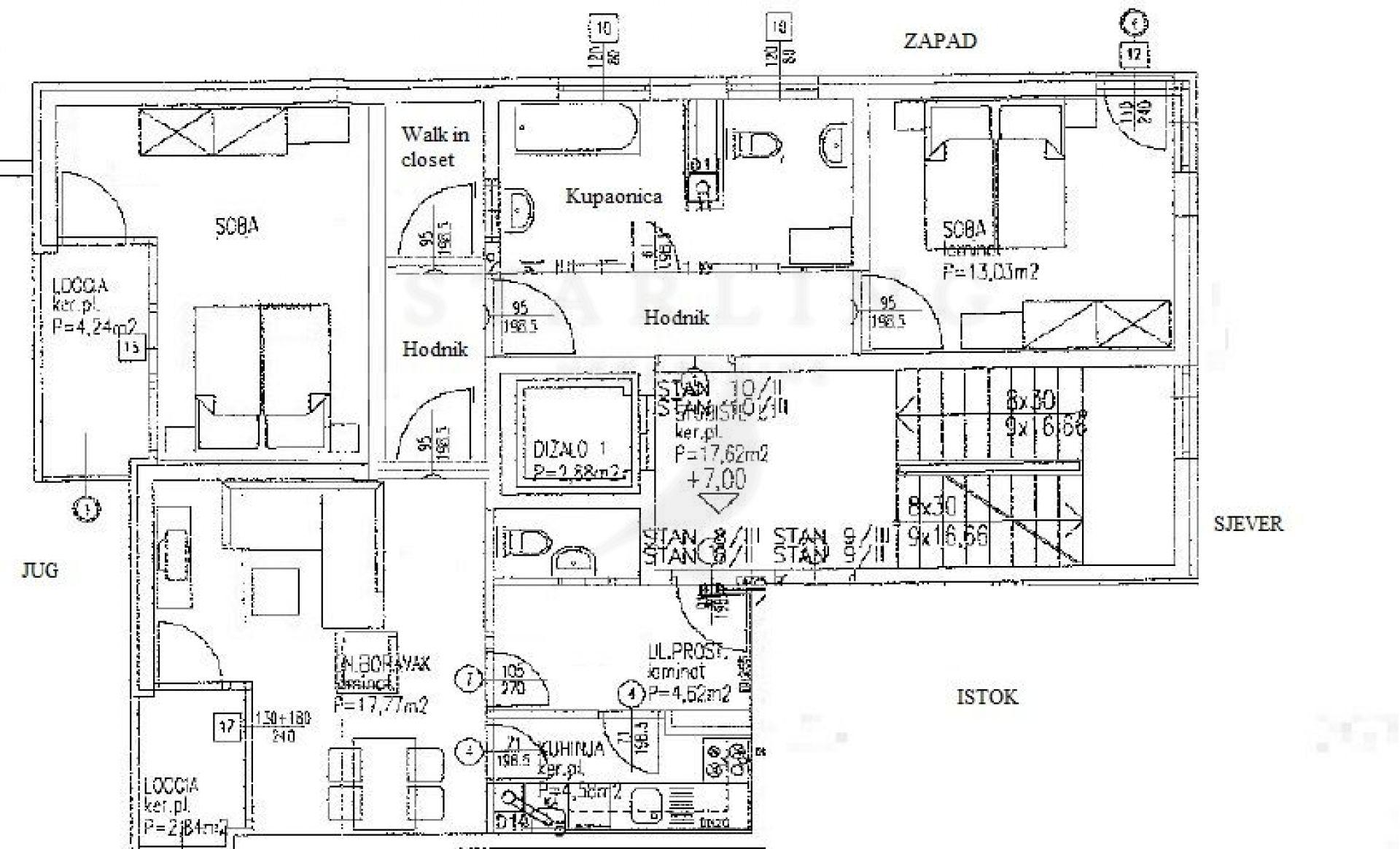 STAN, PRODAJA, ZAGREB, TREŠNJEVKA, 90 m2, 3-soban