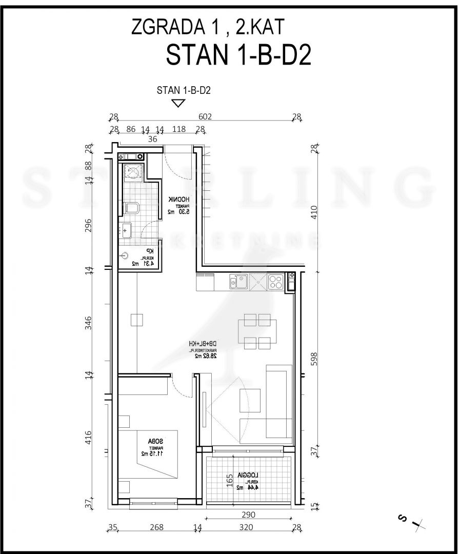 STAN, NOVOGRADNJA, PRODAJA, ZAGREB, ŠPANSKO, 53 m2, 2-soban