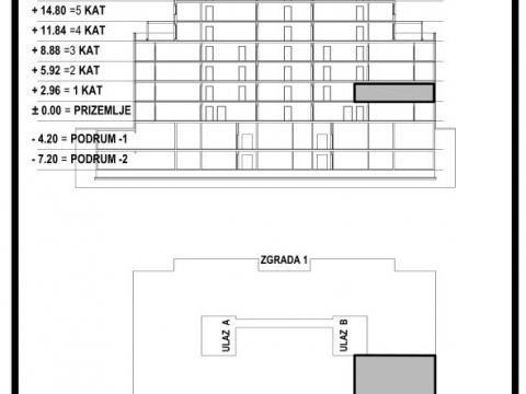 STAN, NOVOGRADNJA, PRODAJA, ZAGREB, ŠPANSKO, 70 m2, 3-soban