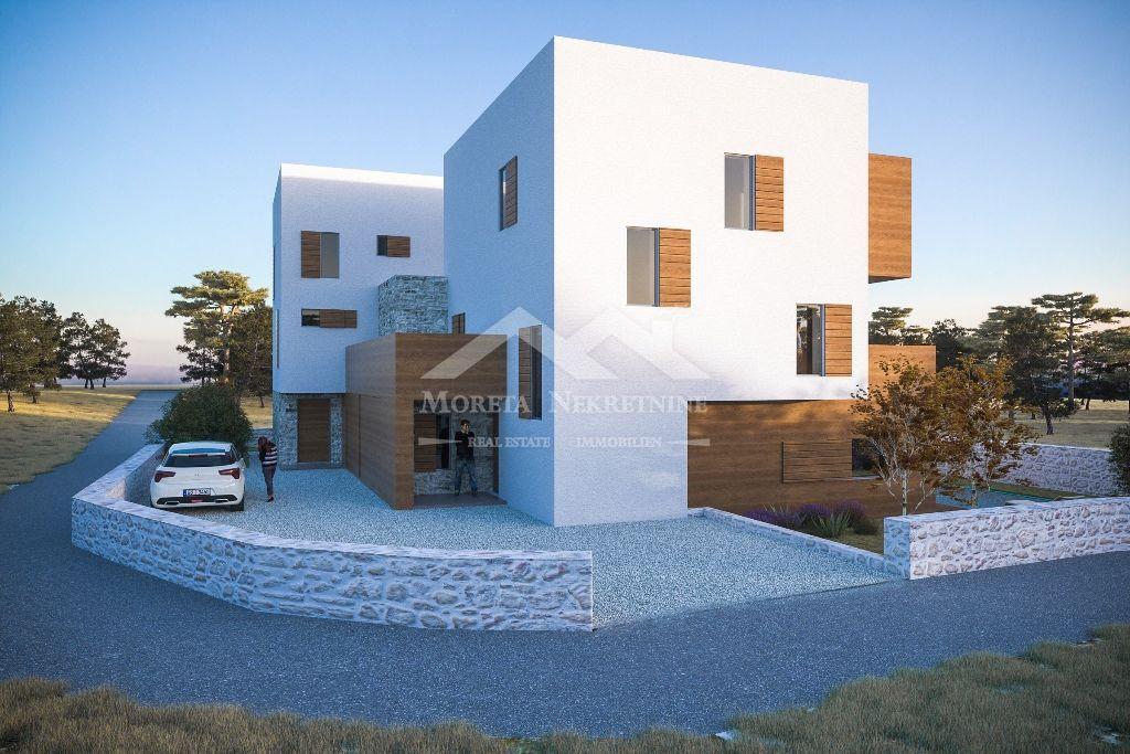 Tribunj, nova kuća s bazenom i pogledom na more