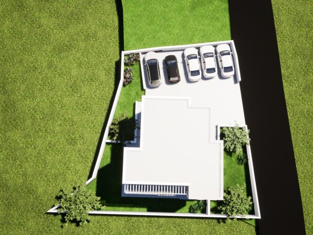 Vodice, dvosoban stan u prizemlju nove stambene zgrade