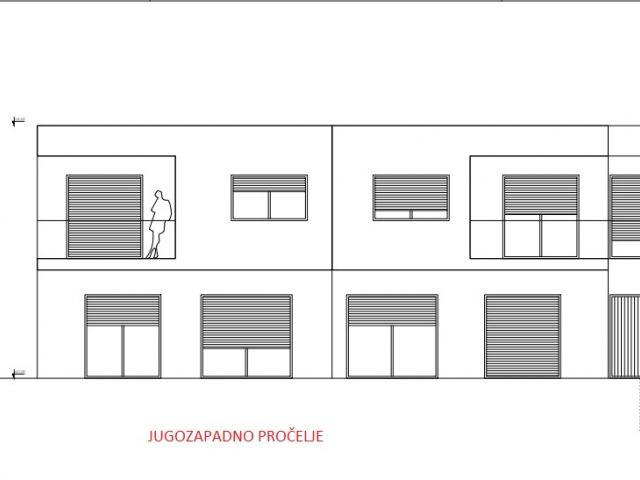 Vodice, novogradnja, dvojna kuća s bazenom u blizini centra