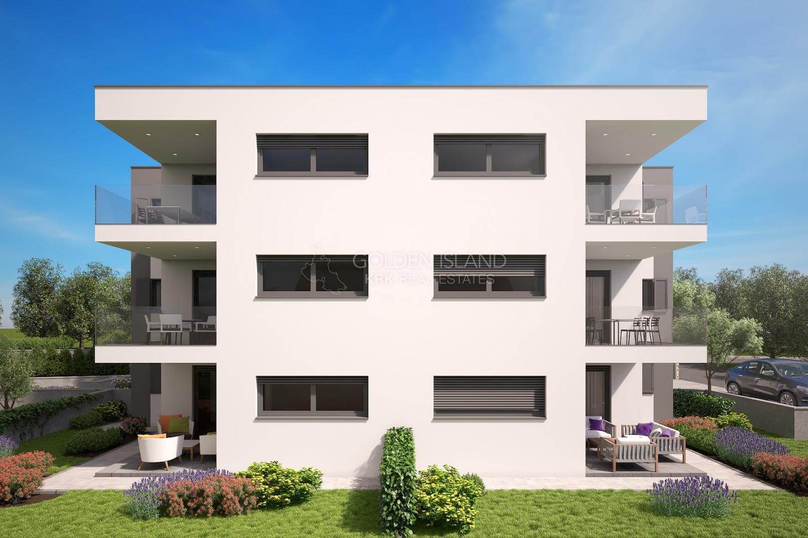 Apartment Bogovići, Malinska-Dubašnica, 71,49m2