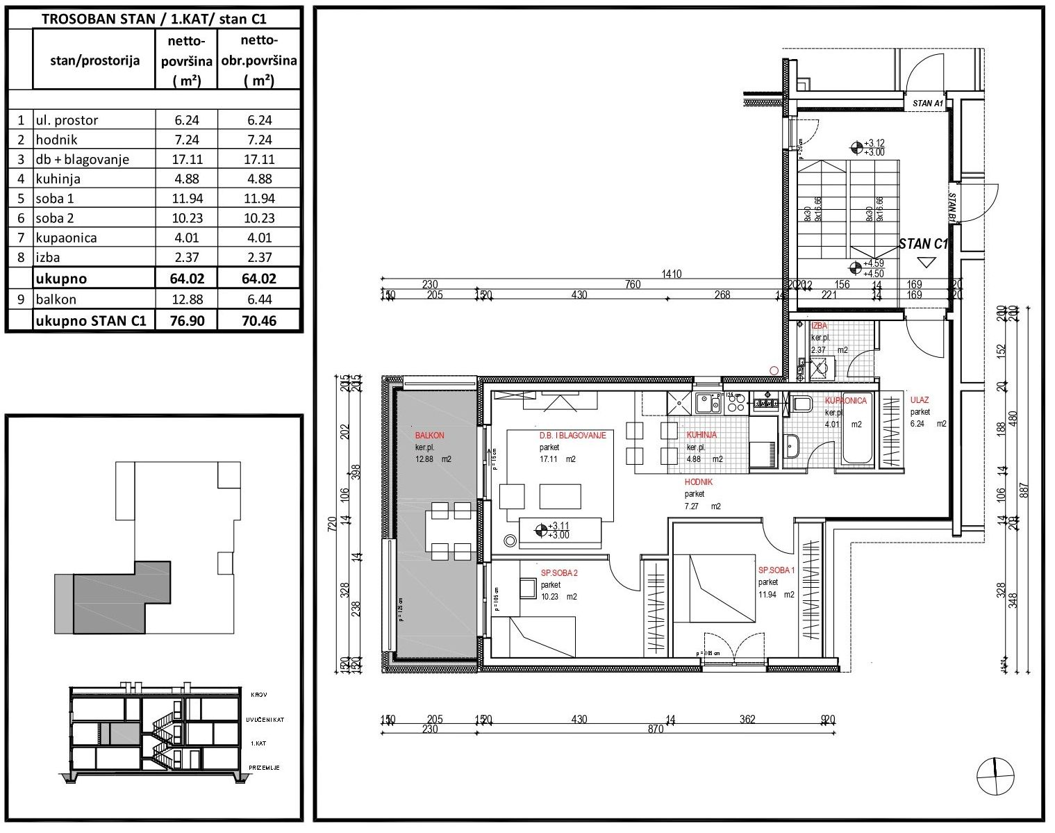 Remetinec, novogradnja 73,59 m2