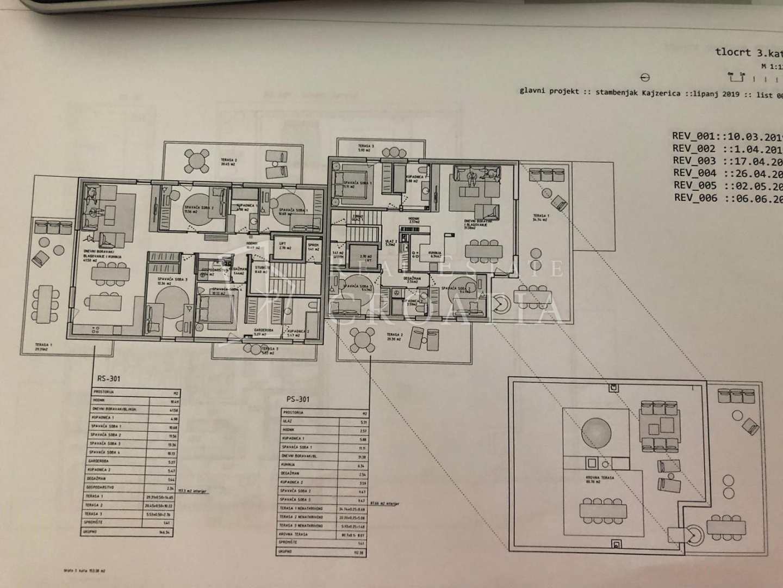 KAJZERICA novogradnja-četverosobni stan  105,16 m2