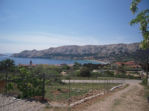 BAŠKA, otok Krk -građevinsko zemljište 345 m2
