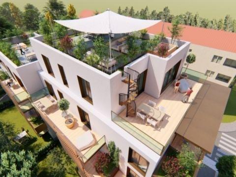 KAJZERICA novogradnja-trosobni stan s terasom i vrtom 55,37 m2