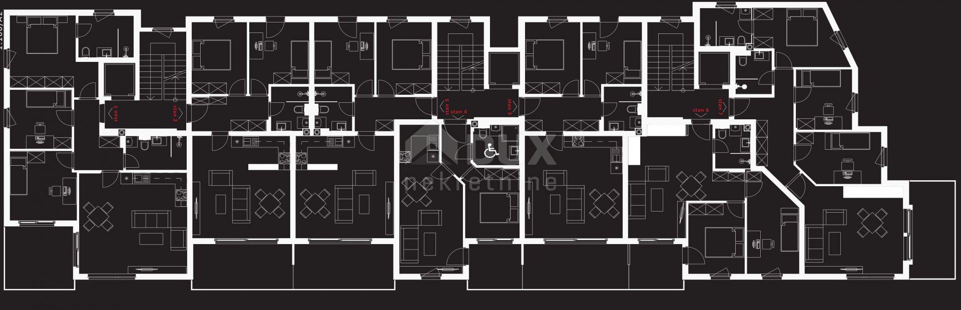 Srdoči 2s+db - 72 m2, sa parking mjestom i okućnicom