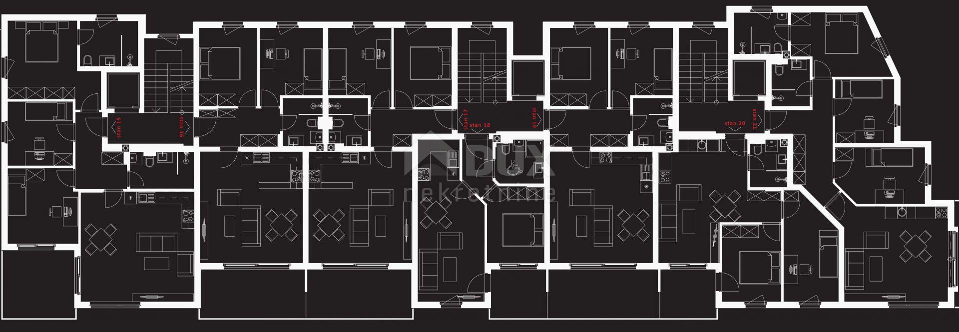 Srdoči 3s+db - 90,88 m2, garaža sa 2 parking mjesta