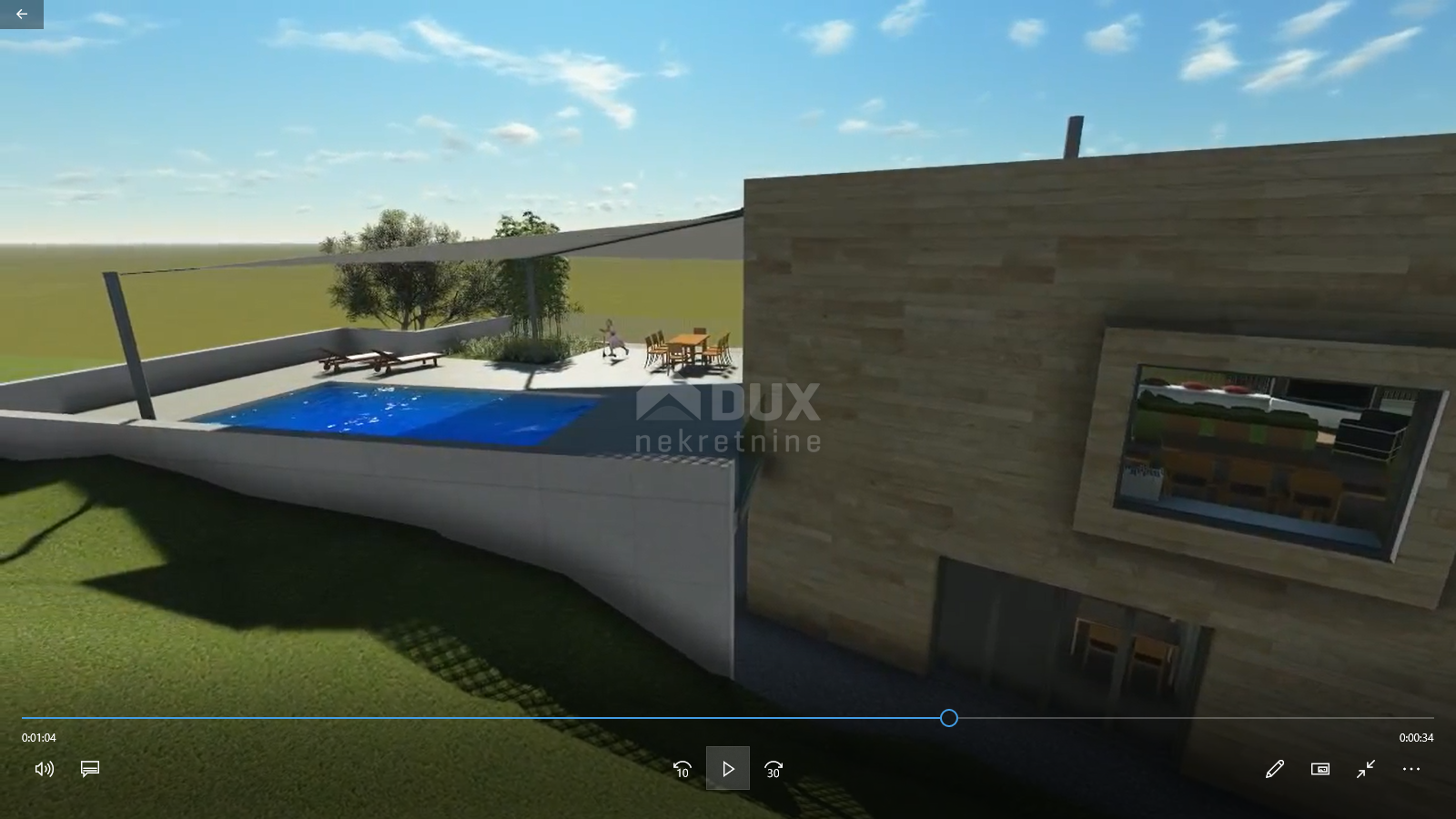 KOSTRENA - građevinski teren 1207m2 za stambenu zgradu – stanove / obiteljsku kuću / villu  / kuću za iznajmljivanje sa bazenom / kuću za odmor sa bazenom