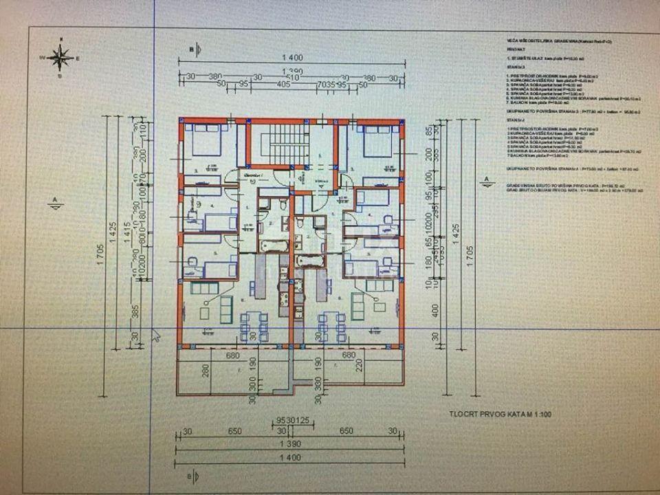 MARINIĆI - stan, 87,40 m2, 3S+DB, NOVOGRADNJA, PANORAMSKI POGLED NA MORE!!!