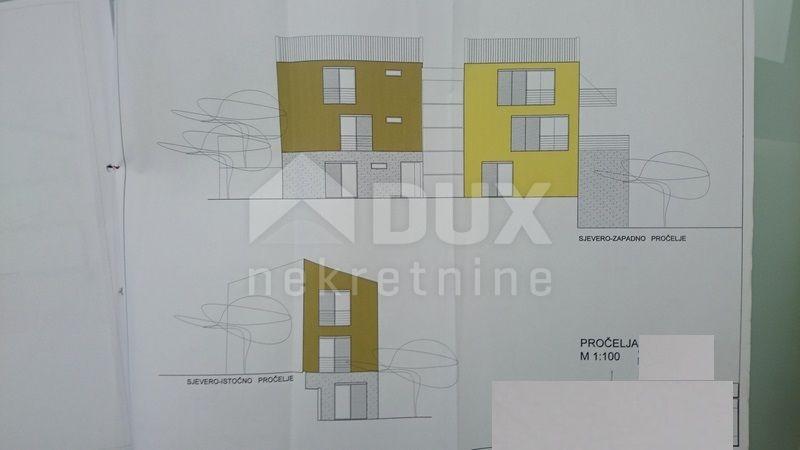 LABIN okolica – zemljište za urbanu vilu sa 4 stana